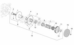 Engine - Clutch - Aprilia - Flanged nut M10x1,25