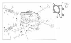 Engine - Cylinder Head - Valves - Aprilia - Cup