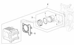 Engine - Cylinder - Piston - Aprilia - PACKING 0,5