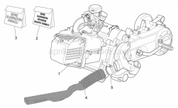 Engine - Engine - Aprilia - Variator manifold
