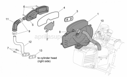 Engine - Secondary Air - Aprilia - Sleeve