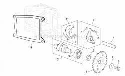 Engine - Valve Control - Aprilia - Adjuster screw