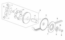 Engine - Variator - Aprilia - DRIVING SEMI-PULLEY ASSEM