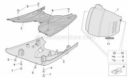 Frame - Central Body II - Aprilia - PIANALE POGGIAPIEDI GRIGIO