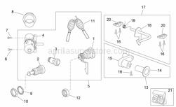 Frame - Decal - Lock Hardware Kit - Aprilia - Saddle lock hardware kit