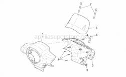 Frame - Front Body I - Aprilia - Screw w/ flange M3x12