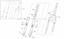 Frame - Front Fork - Aprilia - Screw w/ flange M8x25