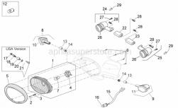 Frame - Front Lights - Aprilia - Headlight adjuster spring
