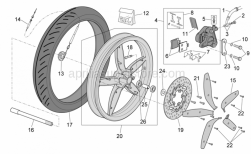 Frame - Front Wheel - Disc Brake - Aprilia - Washer