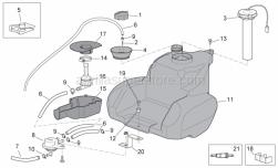 Frame - Fuel Tank II - Aprilia - Pipe, grey 3x8
