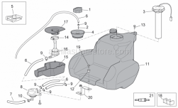 Frame - Fuel Tank II - Aprilia - Screw w/ flange M6x25