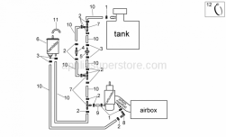Frame - Fuel Vapour Recover System - Aprilia - 2-way union