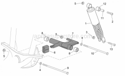 Frame - R.Shock Absorber-Connect. Rod - Aprilia - Screw w/ flange