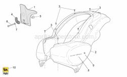 Frame - Rear Body I - Aprilia - Rear cover, Green