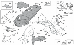 Frame - Rear Body II - Aprilia - Glove compartment