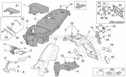 Frame - Rear Body Ii - Aprilia - Adhesive sponge