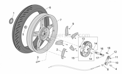 Frame - Rear Wheel - Drum Brake - Aprilia - Rear spoke cover