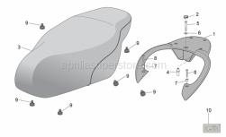 Frame - Seat - Carrier - Aprilia - PORTAPACCHI LUNGO GRIGIO