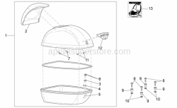 Frame - Top Box - Aprilia - Self-tap screw 3,9x14