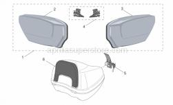 Genuine Aprilia Accessories - Acc. - Top/Cases, Side Cases - Aprilia - Case assy.-pair, s.grey