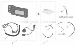 Accessories - Acc. - Various I - Aprilia - Wiring AUX MobControl