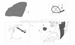 Genuine Aprilia Accessories - Acc. - Various II - Aprilia - Leg cover Velcro support kit