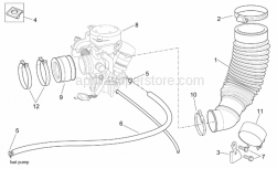Engine - Carburettor I - Aprilia - Carburettor flange