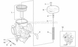 Engine - Carburettor Ii - Aprilia - Carburettor 200 cc version, European approval (EURO 2 Limits) [E2]