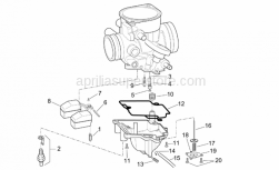 Engine - Carburettor Iv - Aprilia - Float chamber unload screw
