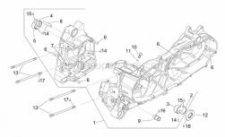 Engine - Crankcase - Aprilia - Hex socket screw M8x16