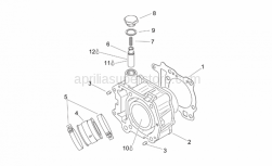 Engine - Cylinder - Aprilia - Hose clamp with spacer 45