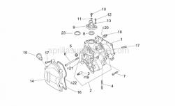 Engine - Cylinder Head - Aprilia - Valves cover