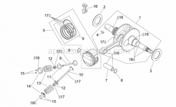 Engine - Drive Shaft - Aprilia - Piston ring set