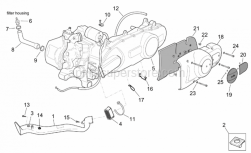 Engine - Engine Assembly - Aprilia - Brake hose hanger