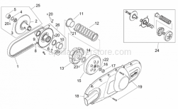 Engine - Pulley Assy., Driven - Aprilia - Spring cap