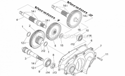 Engine - Transmission - Aprilia - Drive shaft, no thrust washer