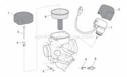 Engine - Carburettor II - Aprilia - Starter valve cover