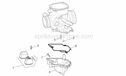 Engine - Carburettor Iii - Aprilia - Float chamber