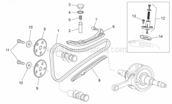 Engine - Chain Tensioner - Aprilia - SLIDING ROD