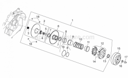 Engine - Clutch - Aprilia - STOP WASHER ALL SCOOTERS   U