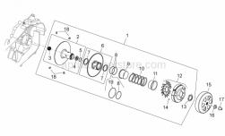 Engine - Clutch - Aprilia - Clutch side cap