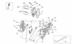 Engine - Crankcase - Aprilia - Bearing half-shel 2,010-2,015