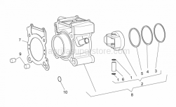 Engine - Cylinder - Aprilia - CYLINDER-PISTON-PIN-RING