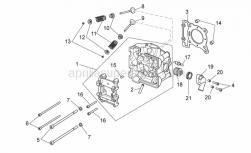 Engine - Cylinder Head - Aprilia - EXHAUST VALVE 125CC