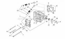 Engine - Cylinder Head - Aprilia - VALVE SEAL RING