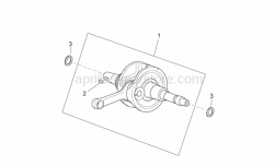 Engine - Drive Shaft - Aprilia - CRANKSHAFT, ASSY