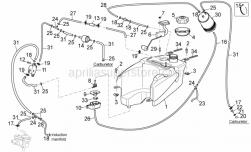 Engine - Fuel Vapour Recover System Ii - Aprilia - Hose clip, green D11x6,6x1