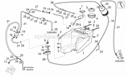 Engine - Fuel Vapour Recover System II - Aprilia - Wiring clip