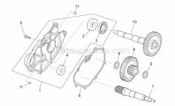 Engine - Transmission - Aprilia - DRIVEN PULLEY SHAFT