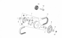Engine - Variator Assembly - Aprilia - Complete roller housing